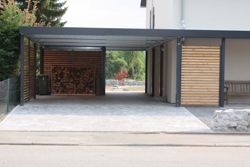 garage mit carport klassische typ multi mit sondertor motiv with garage mit carport beautiful. Black Bedroom Furniture Sets. Home Design Ideas